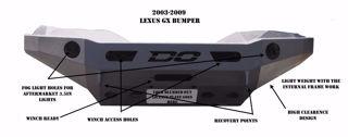 Picture of GX LEXUS FRONT BUMPER 03-09