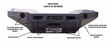 Picture of GX LEXUS FRONT BUMPER 03-09